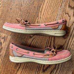 sperry angelfish pink boat shoes